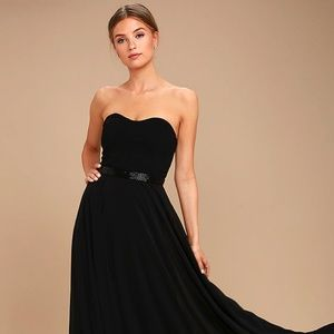 Black evening gown / Bridesmaid dress