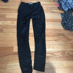 Black Distressed Jamie Jeans