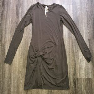 BROWN BAILEY 44 RUFFLE AT SIDE DRESS