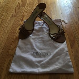 Jimmy Choo kitten heel sandals As-is