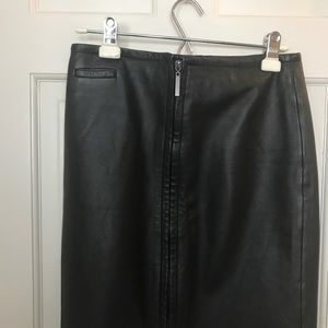 Genuine Leather Skirt Express with full zipper!