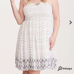 Torrid Mixed print smocked tube dress size 3
