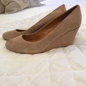 J. Crew Factory size 11 tan suede wedge shoe