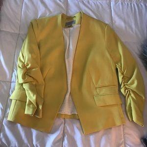 Canary Yellow Cropped Blazer
