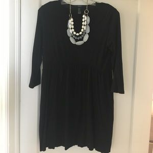 Black stretchy dress