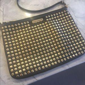 Rebecca Minkoff Studded Rocker Bag Gold Studs RARE