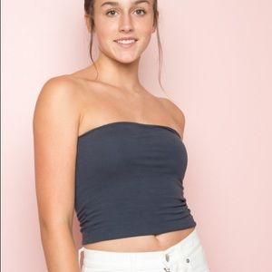 RARE Brandy Melville Navy Jenny Tube Top