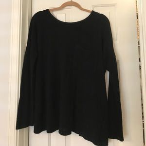 Ya Los Angeles Black Sweater with open back