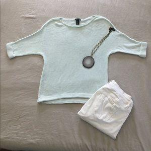 H&M soft mint 3/4 sleeve sweater