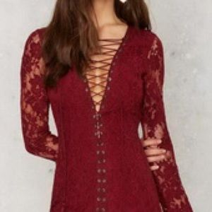 "Jetset Diaries ""The Ruins"" dress in Oxblood NWT"