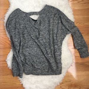 Slouchy Fall Sweater with Fun Back Detail!