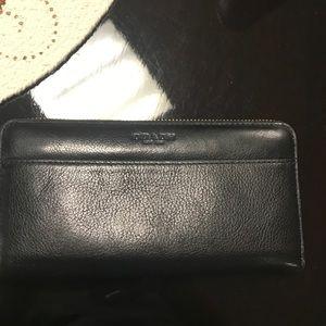 Black authentic coach wallet