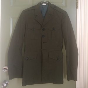 Vintage military style coat jacket Large green💗