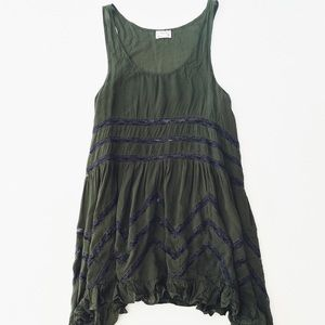 Intimately Free People Voile and Lace Trapeze Slip