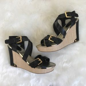 Strappy Wedged Sandals