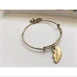 "Alex and Ani ""Best Friends"" Heart Bangle Bracelet"