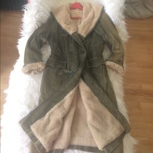 MAXI💗PEACOAT COAT JACKET LONG LARGE FAUX FUR