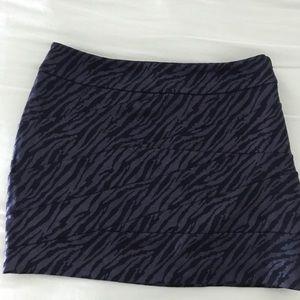 Express black animal print mini skirt