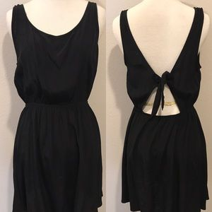 Forever 21 Open Back Mini Black Dress