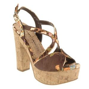 Chinese Laundry brown Party Time platform sandal,8