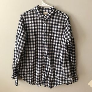 Gingham J Crew Button Down