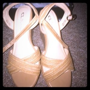 Chinese Laundry cork platform wedges