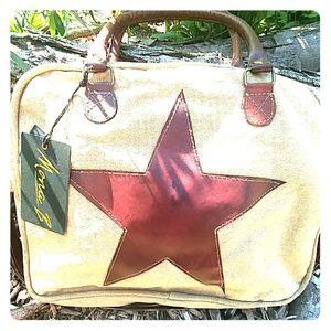 Mona B Upcycled Star Crossbody