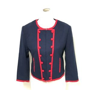 H&M navy and red military inspired jacket