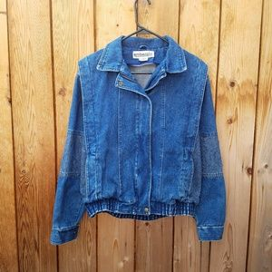 Vintage Ruth Douglass Denim Bomber Jacket