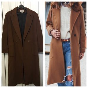Vintage Brown Wool Swing Pea Coat