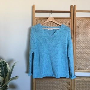 Chunky Knit Multicolor Blue Thailand Sweater