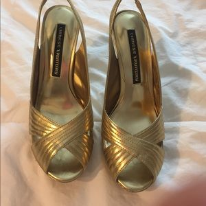 Chinese Laundry Gold sling back heels
