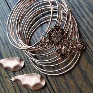 Jewelry - BUNDLE💥Rose Gold Jewelry Bundle