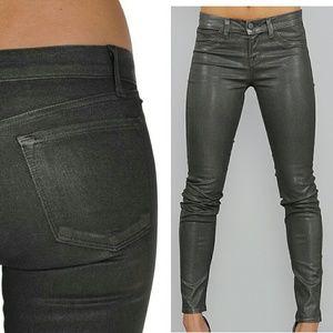 j brand metallic moonwalk skinny Jeans size 31