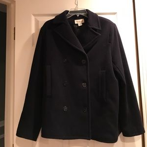 Navy Wool Coat bought @ Dillards great condition!