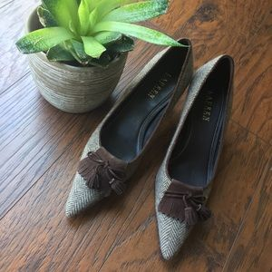 Ralph Lauren Tweed Stilla Heels