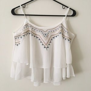 f5fdcd0802484 Genuine People · NEW! Embroidered White Top