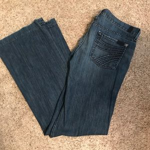 7 for all Mankind low rise fit & flare jeans