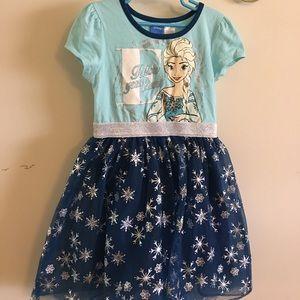 Little Girls Elsa Dress M (7/8)