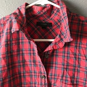 NEW LISTING! J.Crew red popover shirt