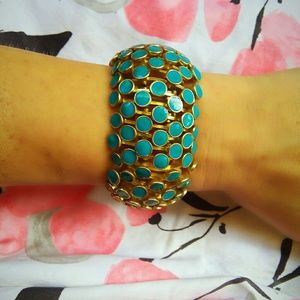 Vintage Turquoise and Gold Plated Bracelet