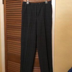 Sag Harbor Ladies plaid dress pants