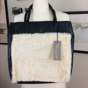 Shearling & Leather Tote