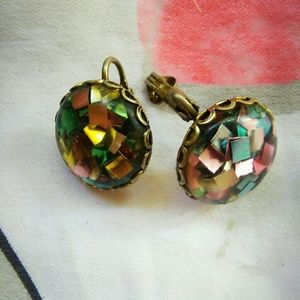 Vintage Clip-on Sparkle Earrings