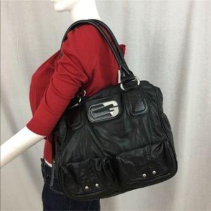 🎈GUESS Large Soft Leather Black Shoulder Tote Bag