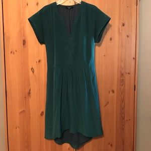 Silk Fable Dress in Utopian Pine