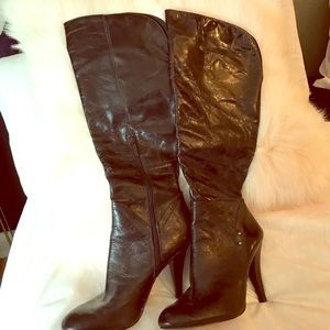 Nine West distressed leather boots
