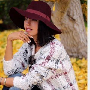 Express Burgundy Wool Hat