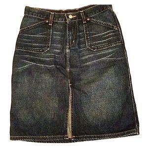 Cute above the knee denim skirt