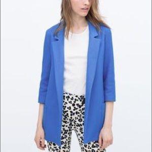 Zara Blue Long Blazer